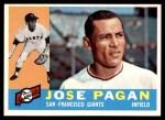 1960 Topps #67  Jose Pagan  Front Thumbnail