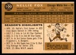 1960 Topps #100  Nellie Fox  Back Thumbnail