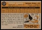 1960 Topps #127   -  Ron Hansen Rookie Star Back Thumbnail