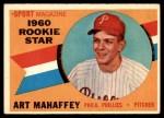 1960 Topps #138   -  Art Mahaffey Rookie Star Front Thumbnail