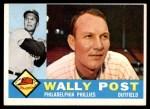 1960 Topps #13  Wally Post  Front Thumbnail