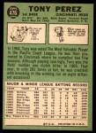1967 Topps #476  Tony Perez  Back Thumbnail