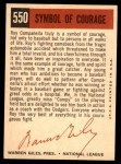 1959 Topps #550   -  Roy Campanella Symbol of Courage Back Thumbnail