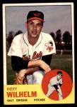 1963 Topps #108  Hoyt Wilhelm  Front Thumbnail