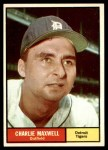 1961 Topps #37  Charlie Maxwell  Front Thumbnail