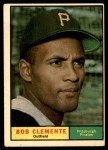 1961 Topps #388  Roberto Clemente  Front Thumbnail