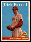 1958 Topps #76 YT Dick Farrell  Front Thumbnail