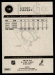 2008 O-Pee-Chee #18  Sidney Crosby  Back Thumbnail