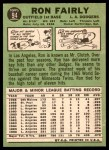 1967 Topps #94 xDOT Ron Fairly  Back Thumbnail