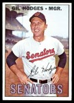 1967 Topps #228  Gil Hodges  Front Thumbnail