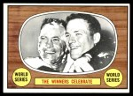 1967 Topps #155  Hank Bauer / Dave McNally 1966 World Series Summary - The Winners Celebrate Front Thumbnail