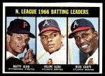 1967 Topps #240   -  Felipe Alou / Matty Alou / Rico Carty NL Batting Leaders Front Thumbnail