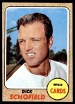 1968 Topps #588  Dick Schofield  Front Thumbnail