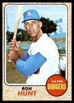 1968 Topps #15  Ron Hunt  Front Thumbnail