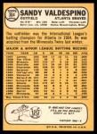 1968 Topps #304  Sandy Valdespino  Back Thumbnail