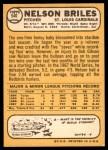 1968 Topps #540  Nelson Briles  Back Thumbnail