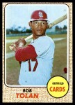 1968 Topps #84  Bobby Tolan  Front Thumbnail