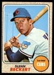 1968 Topps #101  Glenn Beckert  Front Thumbnail