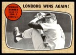 1968 Topps #155   -  Jim Lonborg 1967 World Series - Game #5 - Lonborg Wins Again! Front Thumbnail
