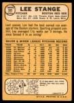 1968 Topps #593  Lee Stange  Back Thumbnail