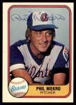 1981 Fleer #242  Phil Niekro  Front Thumbnail