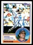 1983 Topps #640  Andre Thornton  Front Thumbnail