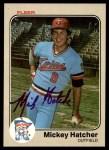 1983 Fleer #614  Mickey Hatcher  Front Thumbnail