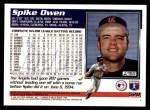 1995 Topps #520  Spike Owen  Back Thumbnail