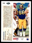 1992 Upper Deck #504  Tom Newberry  Back Thumbnail
