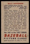 1951 Bowman #237  Billy Goodman  Back Thumbnail