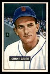 1951 Bowman #249  Johnny Groth  Front Thumbnail