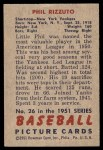 1951 Bowman #26  Phil Rizzuto  Back Thumbnail