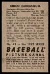 1952 Bowman #41  Chico Carrasquel  Back Thumbnail