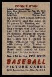 1951 Bowman #216  Connie Ryan  Back Thumbnail