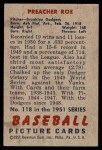 1951 Bowman #118  Preacher Roe  Back Thumbnail