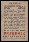 1951 Bowman #33  Bob Hooper  Back Thumbnail