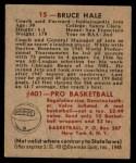 1948 Bowman #15  Bruce Hale  Back Thumbnail