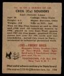 1948 Bowman #66  Cecil Souders  Back Thumbnail