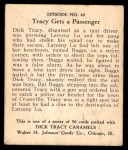 1931 Johnson Candy Dick Tracy R41 #40   Buggs Hailed the Cab Back Thumbnail