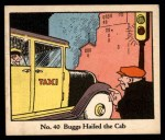1931 Johnson Candy Dick Tracy R41 #40   Buggs Hailed the Cab Front Thumbnail