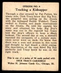 1931 Johnson Candy Dick Tracy R41 #9   Tracy Aboard the Alonia Back Thumbnail
