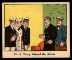 1931 Johnson Candy Dick Tracy R41 #9   Tracy Aboard the Alonia Front Thumbnail