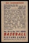 1951 Bowman #39  Ray Scarborough  Back Thumbnail