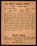 1940 Play Ball #136  Cotton Pippen  Back Thumbnail