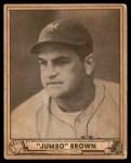 1940 Play Ball #154  Jumbo Brown  Front Thumbnail