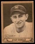 1940 Play Ball #121  Atley Donald  Front Thumbnail