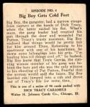 1931 Johnson Candy Dick Tracy R41 #4   Big Boy Packs Up Back Thumbnail
