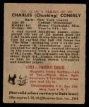 1948 Bowman #12  Charley Conerly  Back Thumbnail