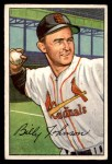 1952 Bowman #122  Billy Johnson  Front Thumbnail