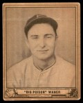 1940 Play Ball #104  Paul Waner  Front Thumbnail